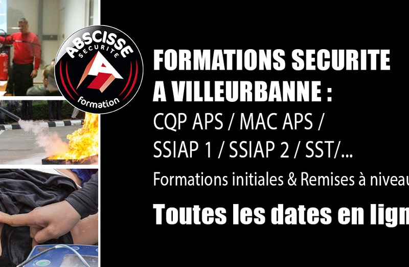 DATES DE NOS FORMATIONS EN SECURITE - 1ER SEMESTRE 2018